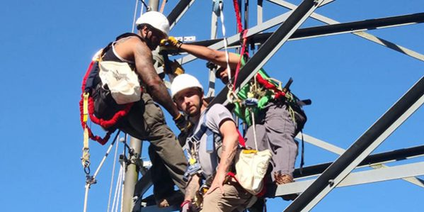 Students Performing Aerial Rescue